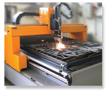 Plasma cutting of metal
